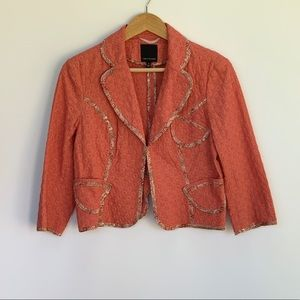 THE LIMITED coral eyelet jacket size M